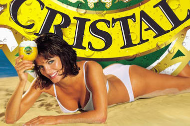 Cerveza Cristal poster