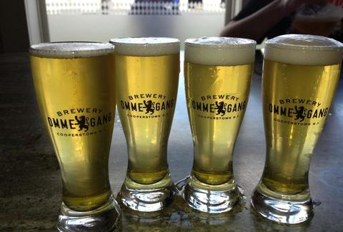 Ommegang beers in a row