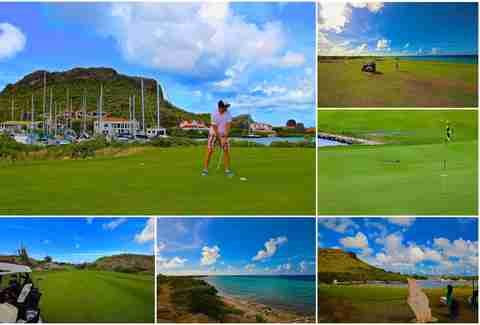 Santa Barbara Beach and Golf Resort golf course in Curacao.