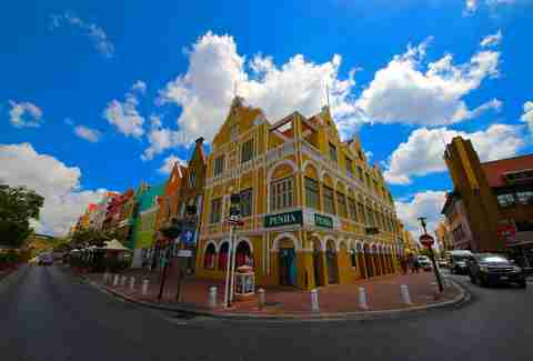 Willemstad, Curacao scenery.