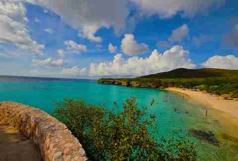 Playa Forti beach in Curacao.