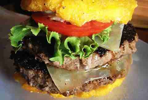 Toston Burger at Pincho Factory Coral Gables