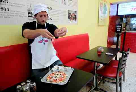 Making Pizza at The Pizza Dude Miami Beach