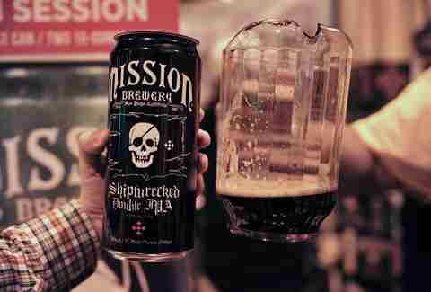 Mission Brewery 32oz cans