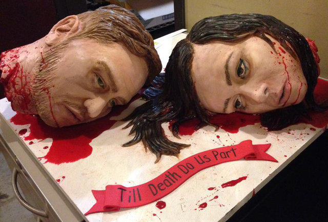 Presenting the world\'s most gruesome wedding cake
