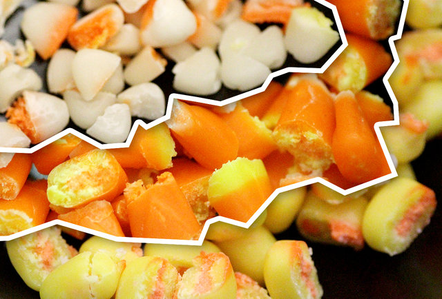 Do the sections of candy corn taste different from one another?