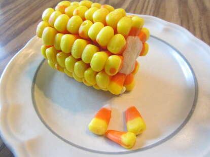 candy corn on the cob
