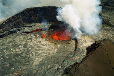 Volcano with lava