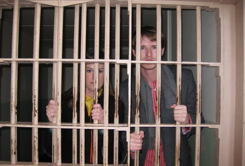 Couple in a prison cell