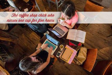 coffee shop chick nursing cup