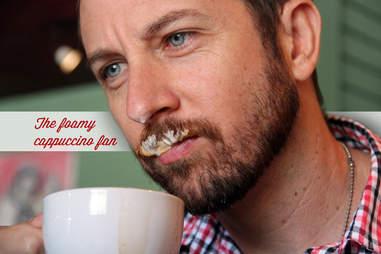 foamy cappuccino fan