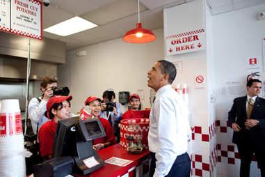 President Obama Five Guys