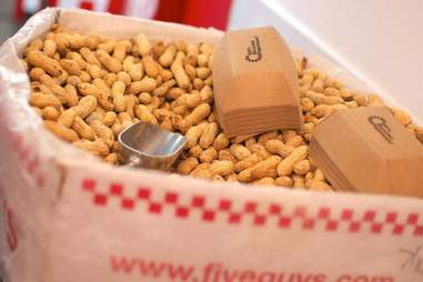 Five Guys peanuts
