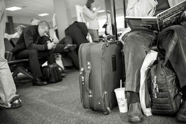 roller bag at airport