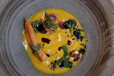 Pumpkin soup at TBD