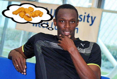 usain bolt chicken mcnuggets mcdonalds