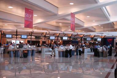 Delta check-in at ATL airport