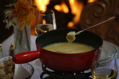 Fondue at Goldener Hirsch Inn Restaurant
