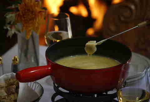 Fondue at Goldener Hirsch Inn Restaurant