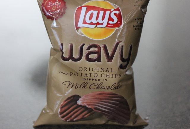 Lay\'s Wavy Original Potato Chips Dipped in Milk Chocolate
