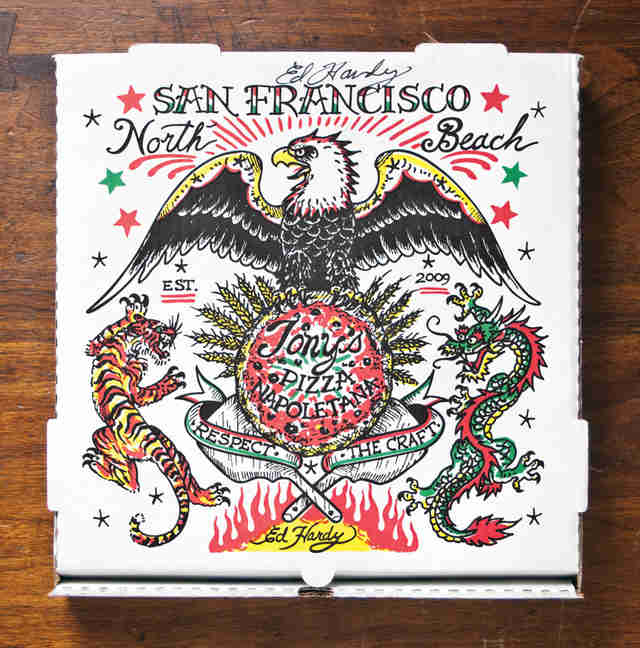 Ed Hardy pizza box