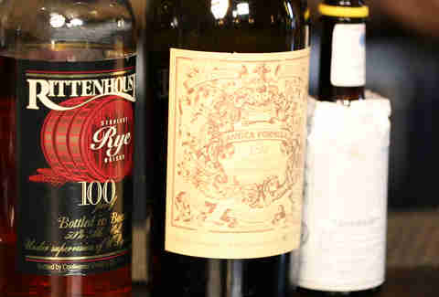 whiskey vermouth bitters