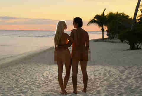 nude couple on the beach
