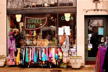 street fair sign in store window