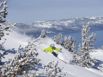 man skiing down Heavenly slope