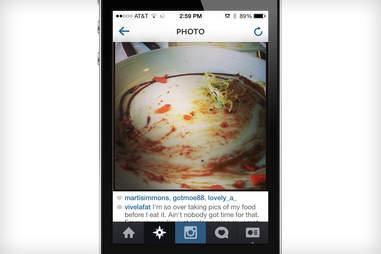 clean plate Instagram