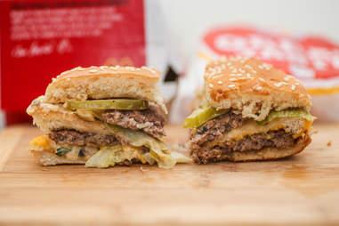 Big Mac and Big King ingredient shot