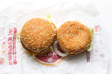 overhead burger shot