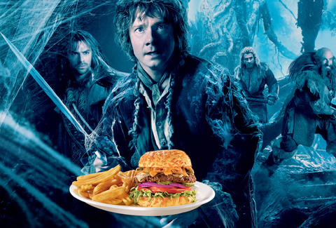 Denny's The Hobbit: Desoluation of Smaug menu