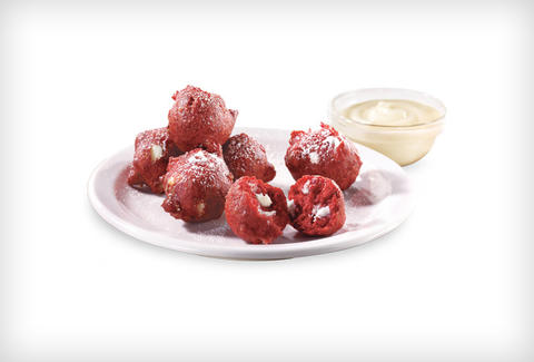 Denny's Radagast's Red Velvet Pancake Puppies