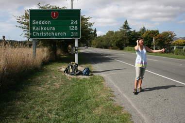 new zealand hitchhiking