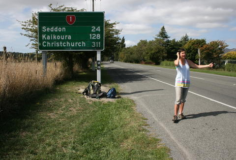 new zealand hitchhiking