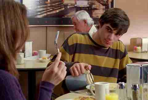 Walt Jr. eating breakfast