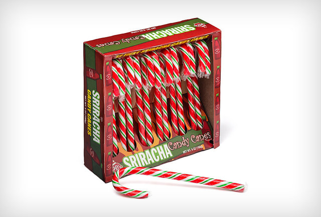 These Sriracha candy canes will burn a hole through Santa\'s mouth
