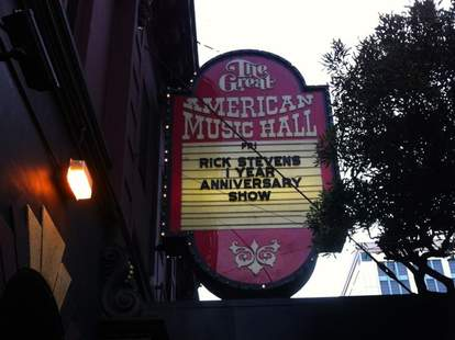 Great American Music Hall sign