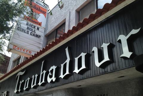 Troubadour sign