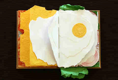 Sandwich book cheese and egg