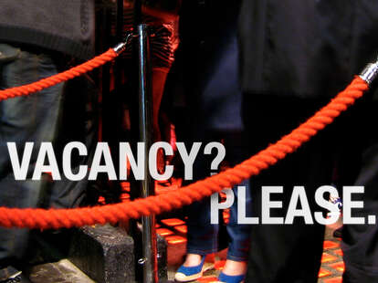 Vacancy? Please.
