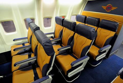 Seats on a Southwest Plane
