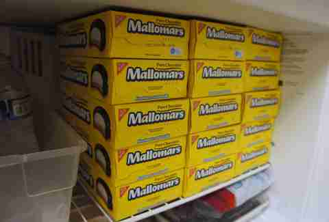 Mallomars in freezer