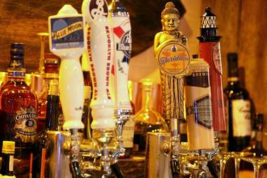 Draft beer taps at SoFi Public House