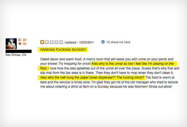 6 ridiculously petty Yelp reviews of Applebee\'s