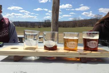 Ithaca beers outside