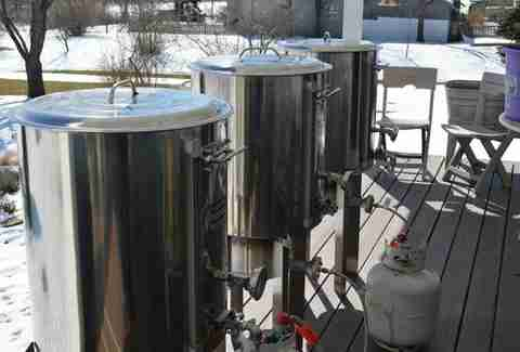 Brewing vats