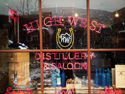 high west neon sign