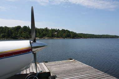 plane at dock